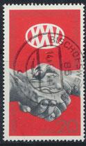 DDR 1667 gestempelt