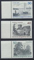 BERL 529-531 postfrisch mit Bogenrand links