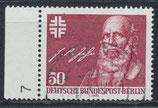 BERL 570 gestempelt mit Bogenrand links