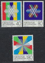 834-836  postfrisch (LIE)