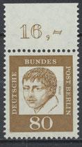 211 postfrisch Bogenrand oben (RWZ 16,00) (BERL)