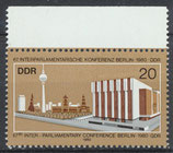 DDR 2542 postfrisch mit Bogenrand oben