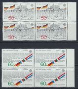 BRD 1130-1131 postfrisch Viererblocksatz mit Bogenrand rechts
