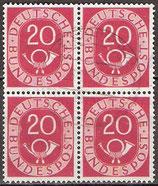 130 gestempelt Viererblock (BRD)