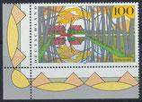 BRD 1851 postfrisch mit Eckrand links unten