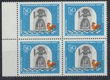 BRD 541 postfrisch Viererblock mit Bogenrand links