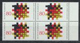 BRD 1194 postfrisch Viererblock mit Bogenrand rechts