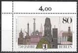 776 postfrisch Eckrand links oben (BERL)