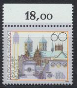 BRD 1645 postfrisch mit Bogenrand oben
