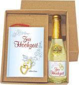 Geschenkset Zur Hochzeit mit 22 Karat Goldsekt
