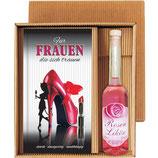 Geschenk Set für Frauen mit Rosenlikör