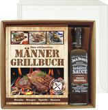 Das ultimative Männer Grillbuch Profi Set's für Männer mit Jack Daniel's BBQ sauce im Geschenke Set