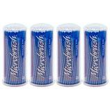 "#12730 Microbrush® Original – Tube Series, ""Regular"" blau (MRB400), 1 Pack à 4x100 Applikatoren"