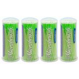 """#22730 Microbrush® Original – Tube Series, """"Regular"""" grün (MRG400), 1 Pack à 4x100 Applikatoren"""