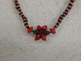 Amazon Seed Necklace - red and brown