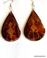 Petroglyph Calabash Earrings