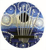 Ethnic Instrument - Painted Thumb Piano