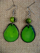 Tagua Slice Earrings