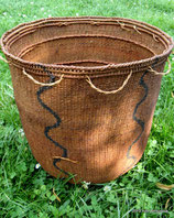 Yanomami Carrying Basket-Verticle Waves