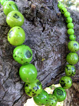 Jewellery Set - Bombona Green Necklace with Earrings