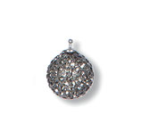 Einhänger E16, Pavékugel 14 mm Farbe 91 black diamond