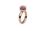 QUDO - SALE Gr. 54 Firenze rosegold, darkrose opal