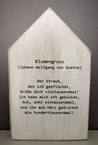 "Deko Holzhaus ""Blumengruss"""