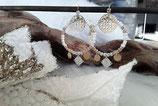 Boucles créoles perlés argentées/dorées