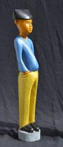 Statuette Africain du Bénin :  Colon