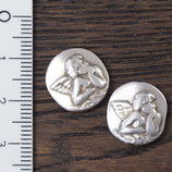 AS-21 Perle Engelchen silberfarben, 2 Stück