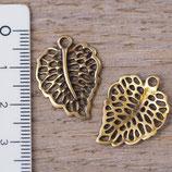 VS-06 Verbinder Blatt bronzefarben, 2 Stück