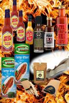 Currywurst-Schärfe-Verkostung-Party-Set
