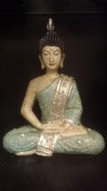 Boeddha Thai mintgroen met zilver meditatie