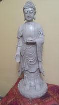 Boeddha staand grijs/creme