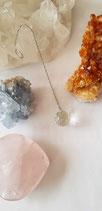 Pendel facet geslepen Bergkristal rond