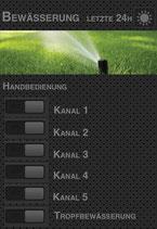 Visualisierung smarte Gartenbewässerung für ioBroker