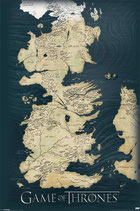Game of Thrones Map Poster 61x91cm