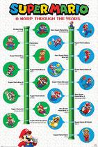 Super Mario - Nintendo - A warp throgh the years Poster 61x91cm