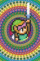 Zelda Link 8Bit Poster 61x91cm