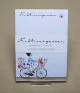 """Notizblock """"Nicht vergessen - Fahrrad"""""""