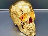 Schädel in 24-Karat Feingold