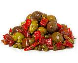 Oliven gewürzt