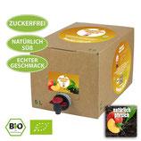 Vorbestellung: 5 Liter Bio-Eisteekonzentrat 'Natürlich-Pfirsich'
