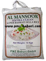 AL MANSOOR Reis 10 Kg Super Basmati Sella Reis