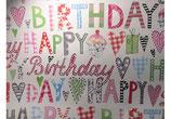 """Geschenkpapier / Papier cadeau """"Happy Birthday"""""""