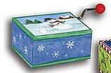 Mini Drehorgel mit Schneemann Motiv