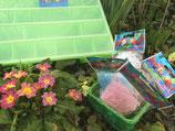 Organizer mit Glitzerfarben / Avec les couleurs a paillettes