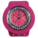 Loomey Time™ Uhr Juwel Pink/Montre brilliant rose­­