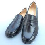 ST2045(22.0㎝~26.0㎝) ローファー学生通学靴/細身の革タイプE -EE /日本製