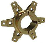 SPROCKET SUPPORT FOR Ø50MM AXLE with screws TITAN GOLD ANODIZED